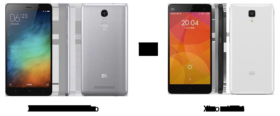 Xiaomi Redmi 3 Pro vs Xiaomi Mi4