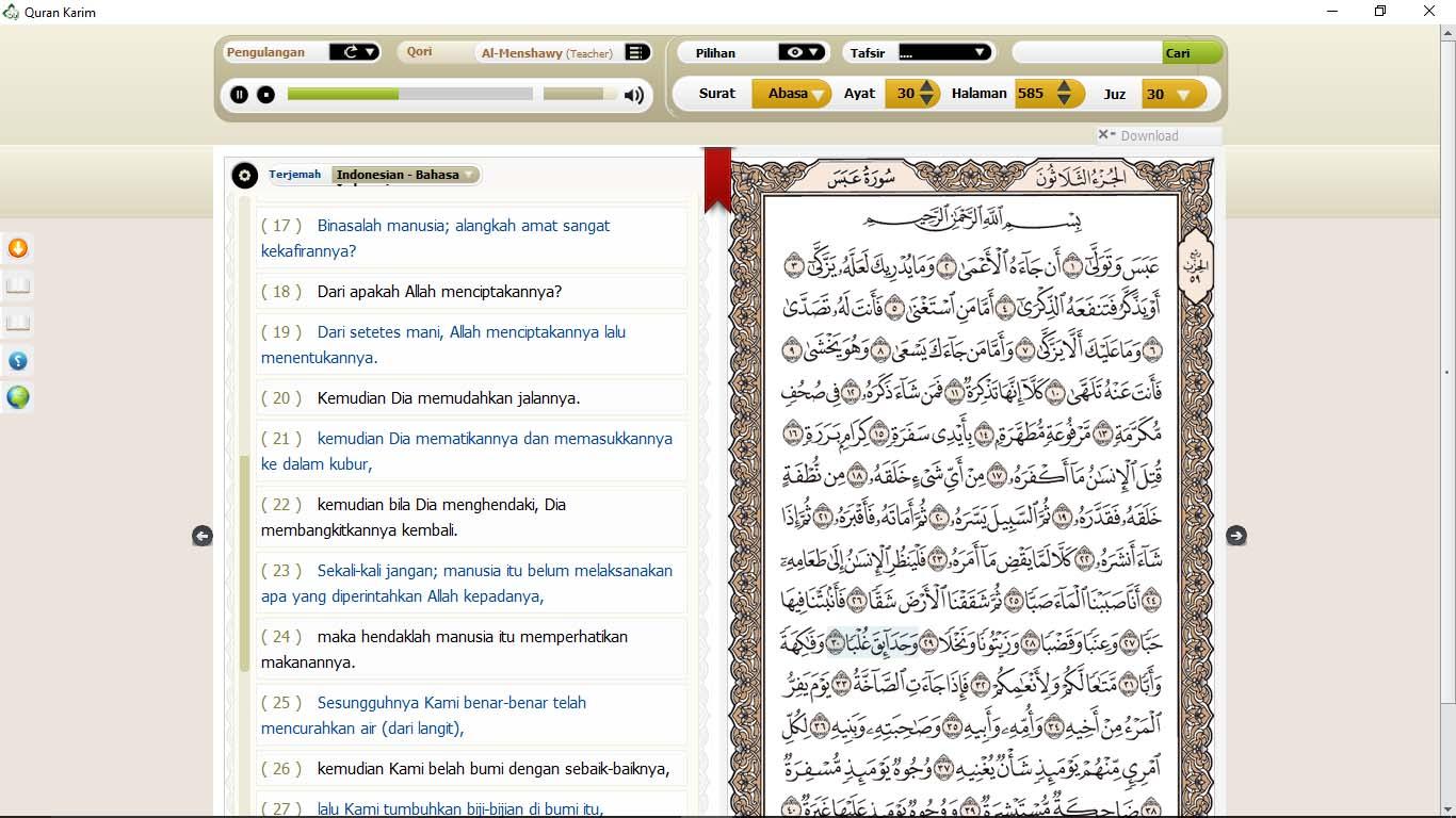 Cara Install Qur'an Digital Ayat Pada Windows 10